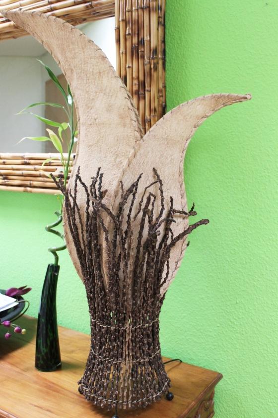 bodenlampe afrika zweige 100cm beige naturesco. Black Bedroom Furniture Sets. Home Design Ideas