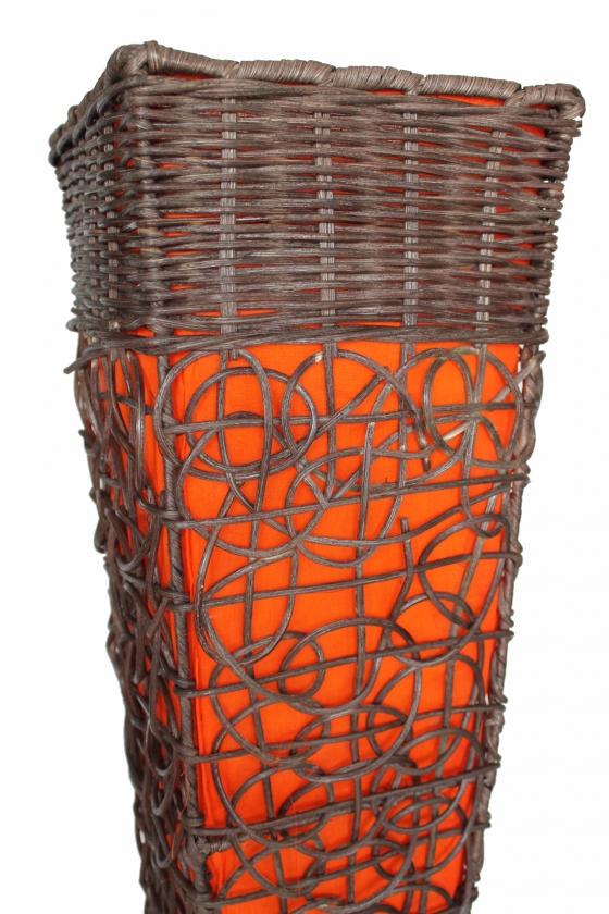 bodenlampe rattan textil orange 150cm naturesco. Black Bedroom Furniture Sets. Home Design Ideas
