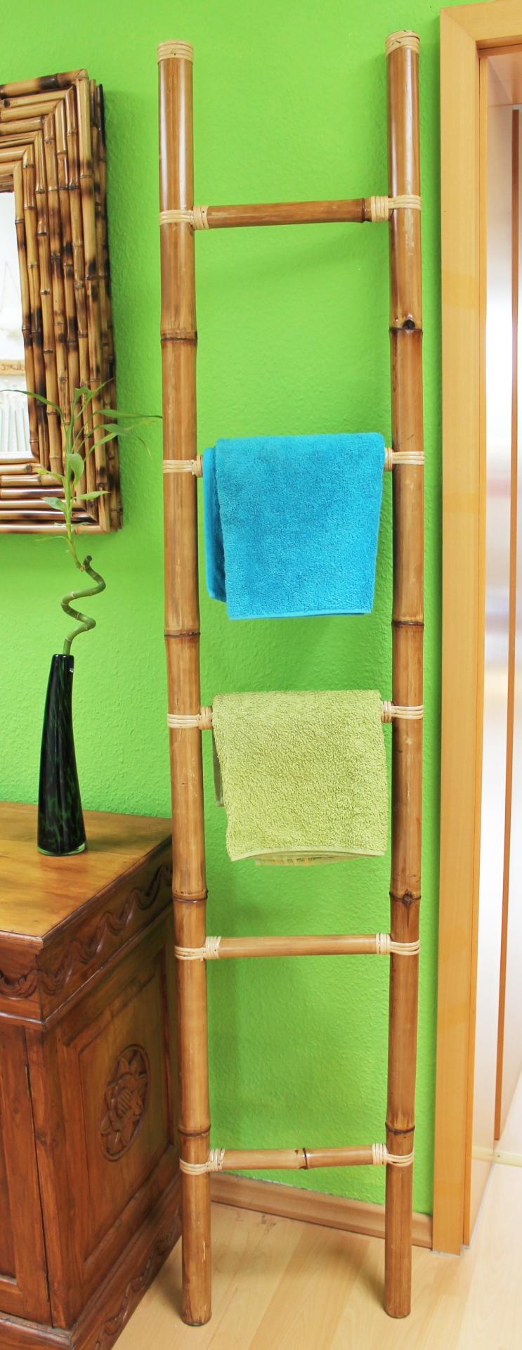 Handtuchhalter Bambus natur lineshop für Barockspiegel
