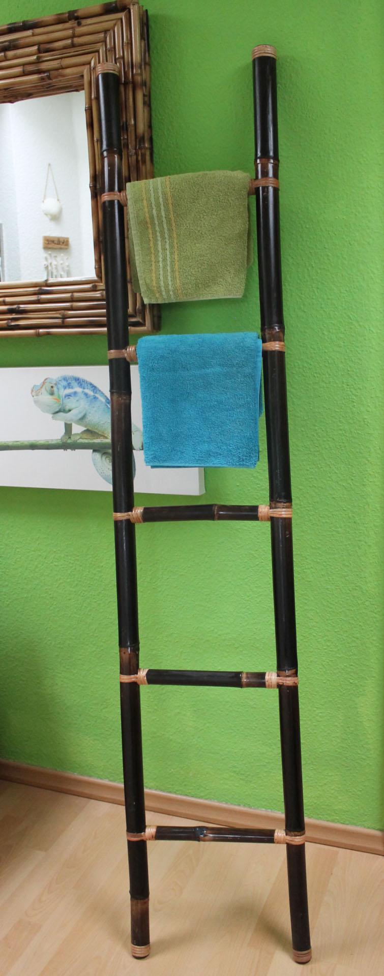 Bambus Handtuchhalter braun lineshop für Barockspiegel