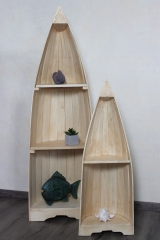 bootsregal regal boot bootsform natur 145cm 95cm naturesco. Black Bedroom Furniture Sets. Home Design Ideas