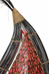 bodenlampe bambus rot 110cm naturesco. Black Bedroom Furniture Sets. Home Design Ideas