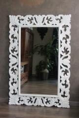 barockspiegel spiegel barock weiss 120cm x 80cm naturesco. Black Bedroom Furniture Sets. Home Design Ideas