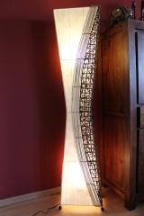 bodenlampe bambus rattan bl tter 150cm naturesco. Black Bedroom Furniture Sets. Home Design Ideas