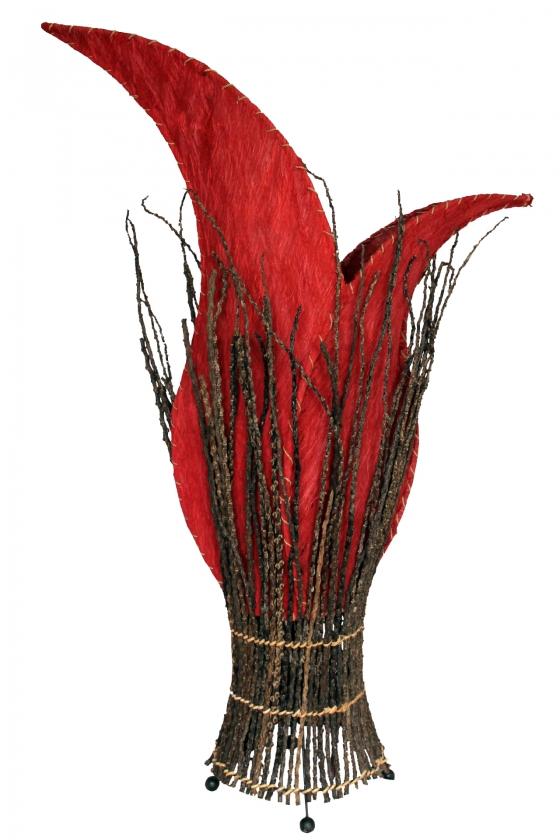 bodenlampe afrika zweige 100cm rot naturesco. Black Bedroom Furniture Sets. Home Design Ideas