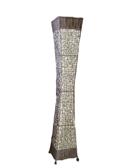 bodenlampe rattan textil wei 150cm naturesco. Black Bedroom Furniture Sets. Home Design Ideas
